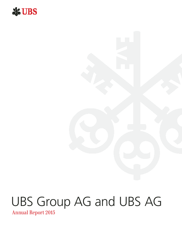 Ubs Group Annual Report 2015ubs