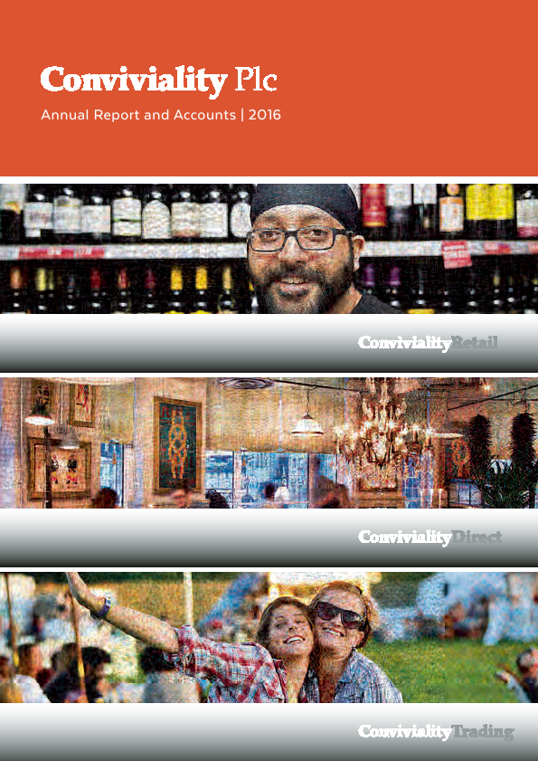 Conviviality annual report 2016www convivialityretail co uk