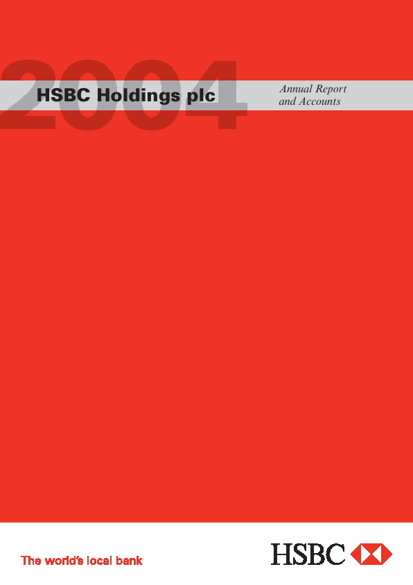 HSBC Holdings annual report 2004www hsbc com