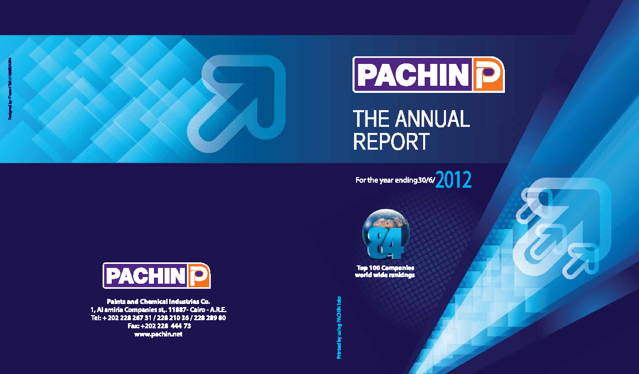 Paints & Chemical Industries annual report 2012www pachin net