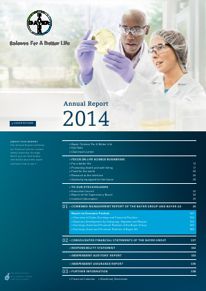Bayer annual report 2013www bayer com