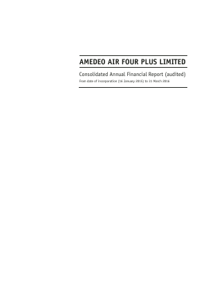 Amedeo Air Four Plus Ltd annual report 2016