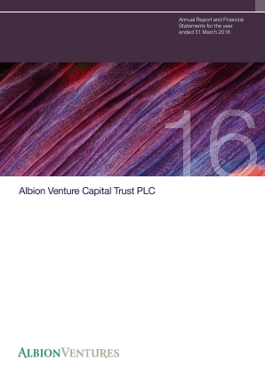 Albion Venture Capital Trust Plc annual report 2016