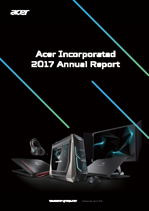 Acer Inc annual report 2017