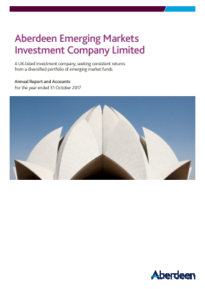 Aberdeen Emerging Markets Investment Company Limited (formally Advance Developing Markets Fund ) annual report 2017