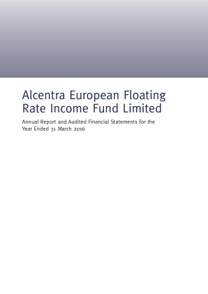 Alcentra European Floating Rate Income Fund annual report 2016