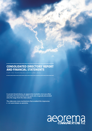 Aeorema Communications Plc annual report 2016