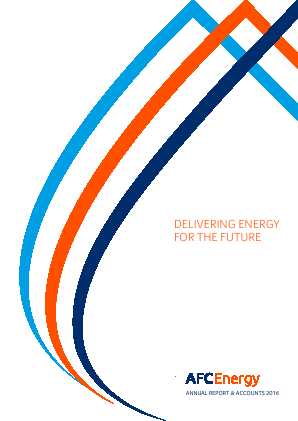AFC Energy Plc annual report 2016