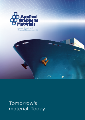 Applied Graphene Materials Plc annual report 2016