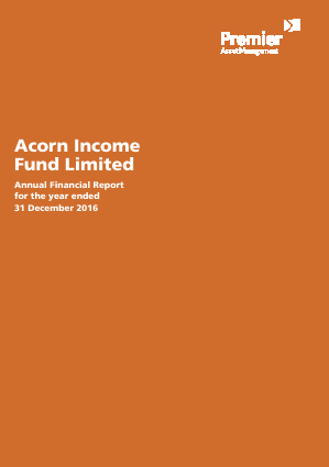 Acorn Income Fund annual report 2016