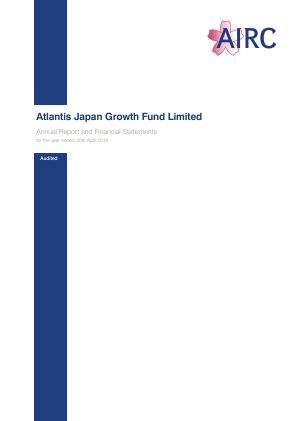 Atlantis Japan Growth Fund annual report 2016