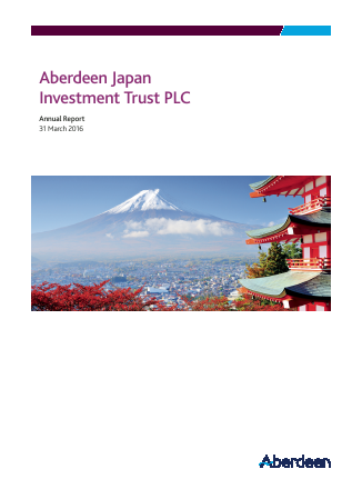 Aberdeen Japan Investment Trust Plc annual report 2016