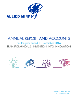 Allied Minds Ltd annual report 2016