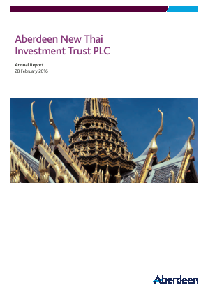 Aberdeen New Thai Investment Trust annual report 2016
