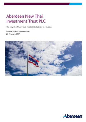 Aberdeen New Thai Investment Trust annual report 2017