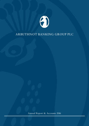 Arbuthnot Banking Group Plc annual report 2016