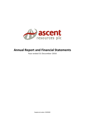 Ascent Resources annual report 2016