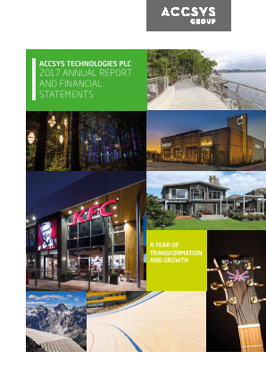 Accsys Technologies annual report 2017
