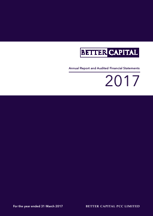 Better Capital PCC Ld annual report 2017