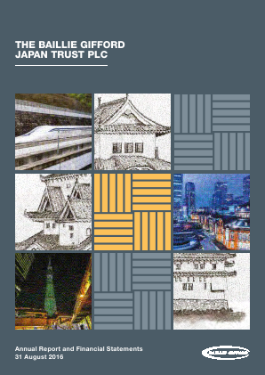 Baillie Gifford Japan Trust annual report 2016