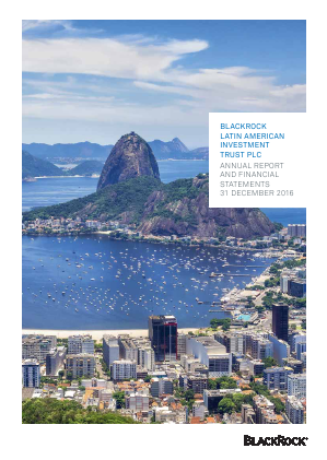 Blackrock Latin American Investment Trust annual report 2016