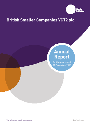 British Smaller Companies VCT2 Plc annual report 2016