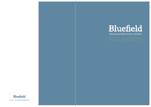 Bluefield Solar Income Fund Ltd annual report 2016