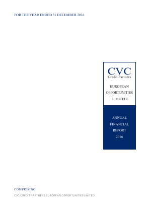 CVC Credit Partners European Opportunities Ltd annual report 2016