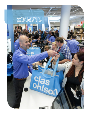 Clas Ohlson annual report 2016