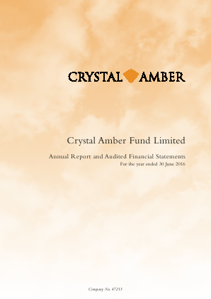Crystal Amber Fund Ltd annual report 2016