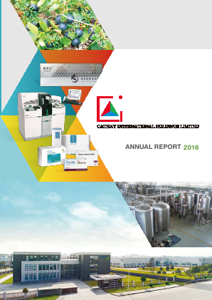 Cathay International Holdings Ltd annual report 2016