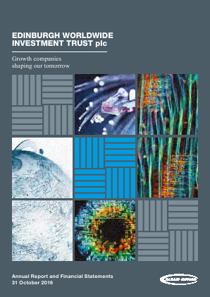 Edinburgh Worldwide Investment Trust annual report 2016