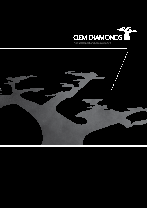 Gem Diamonds Ltd annual report 2016