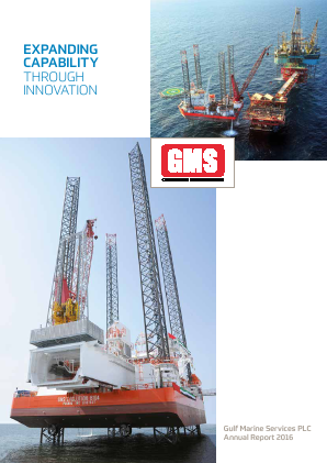 Gulf Marine Services Plc annual report 2016