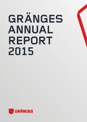 Gränges annual report 2015