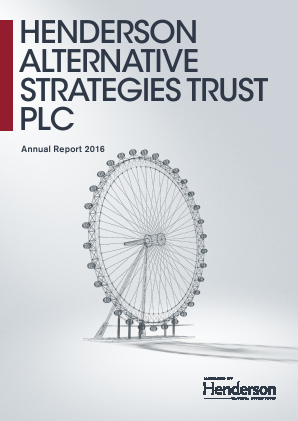 Henderson Alternative Strategy Trust Plc annual report 2016