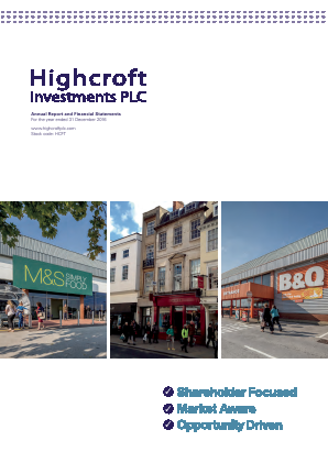Highcroft Investments annual report 2016