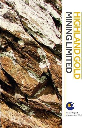Highland Gold Mining annual report 2016