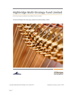 Highbridge Multi-Strategy Fund annual report 2016