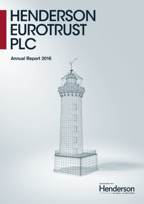 Henderson Eurotrust annual report 2016