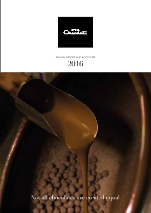 Hotel Chocolat Group annual report 2016