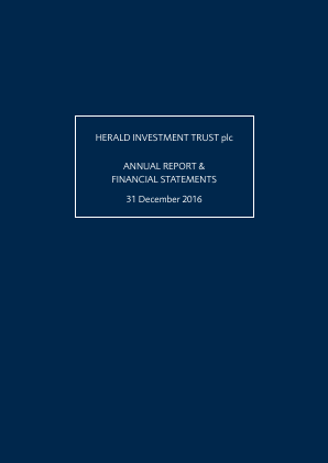 Herald Investment Trust annual report 2016