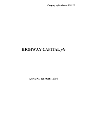 Highway Capital Plc annual report 2016