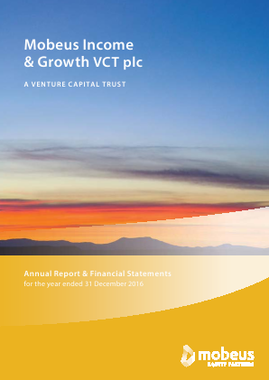 Income & Growth VCT Plc(The) annual report 2016