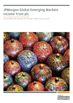 JP Morgan Global Emerging Markets Investment Trust Plc annual report 2016