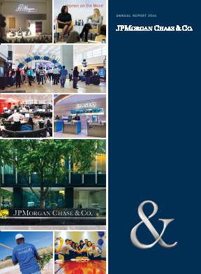 JP Morgan Chase & Co annual report 2016