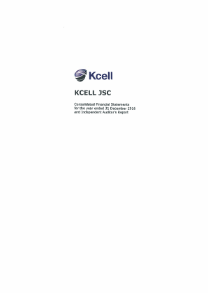 Kcell JSC annual report 2016
