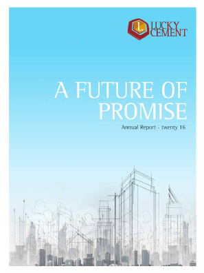Lucky Cement Ltd annual report 2016
