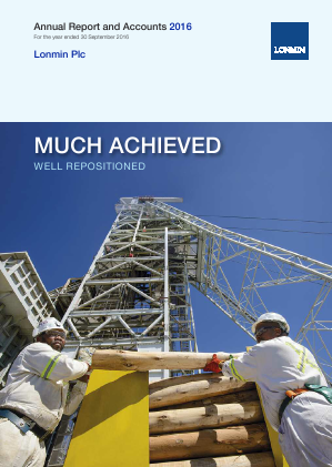 Lonmin annual report 2016