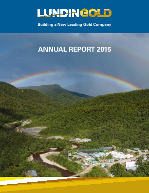 Lundin Gold annual report 2015